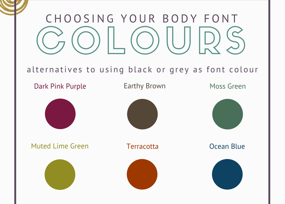 The LBD of Text Colour