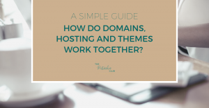 A SIMPLE GUIDE. How do Domains, Hosting and Themes work together