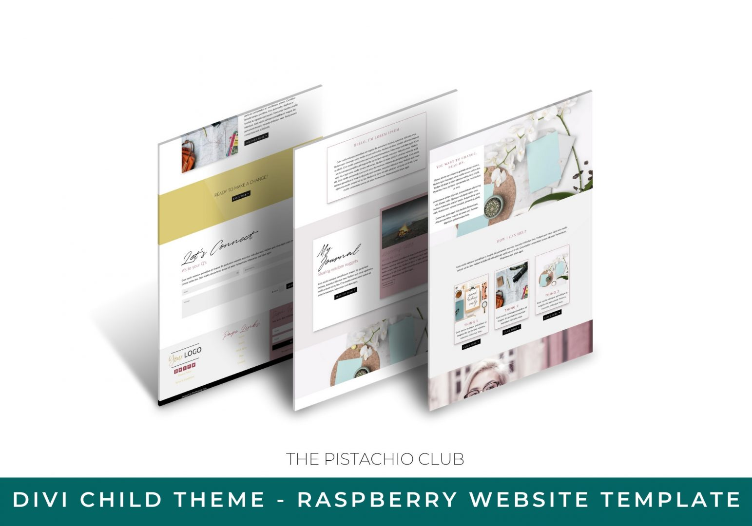 Raspberry Divi Child Website Template