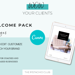 Welcome Pack For Coaches | Classic | Canva Template 1
