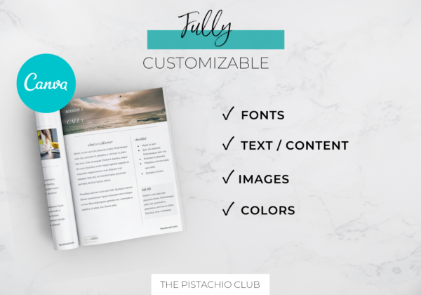 Welcome Pack For Coaches   Classic   Canva Template 6