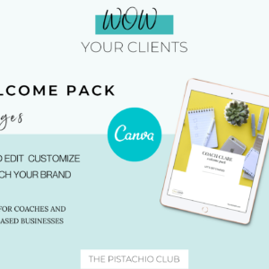 Welcome Pack For Coaches - Modern - Canva Template 1