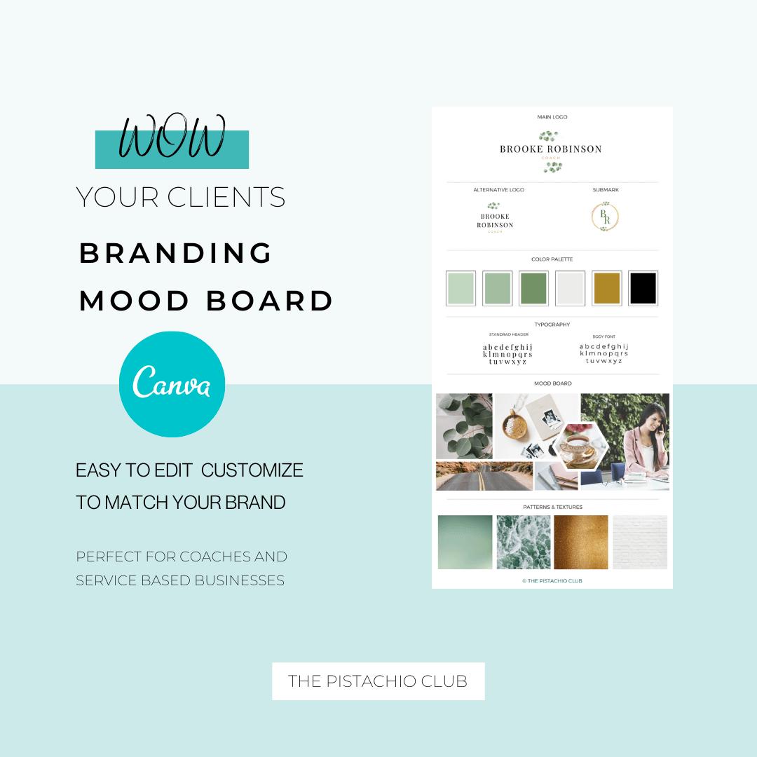 Brooke Robinson Brand Board Pre designed Branding TPC 1