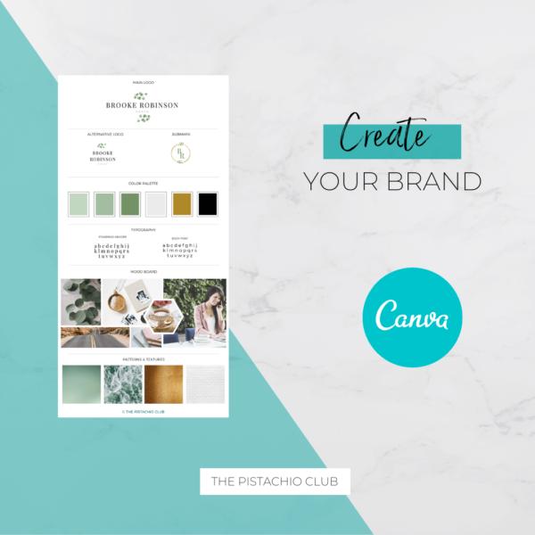 Brooke Robinson Brand Board Pre designed Branding TPC 3