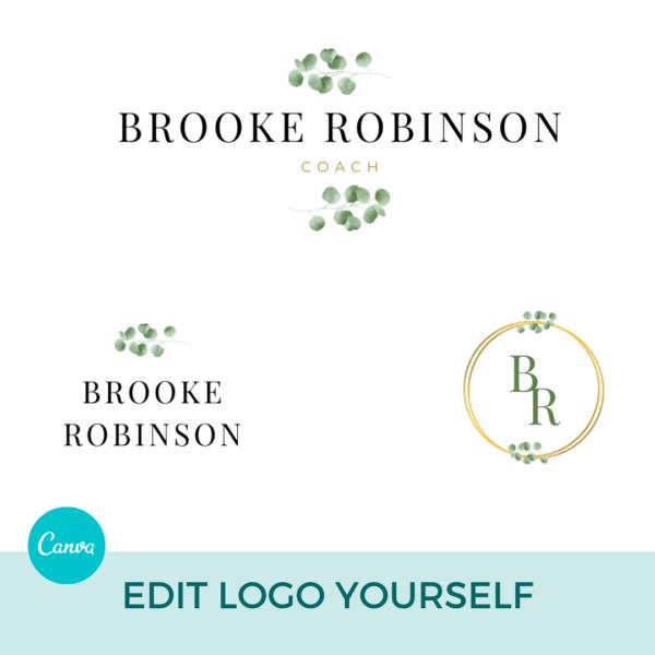 Brooke Robinson Logo Set Pre designed Branding TPC 4