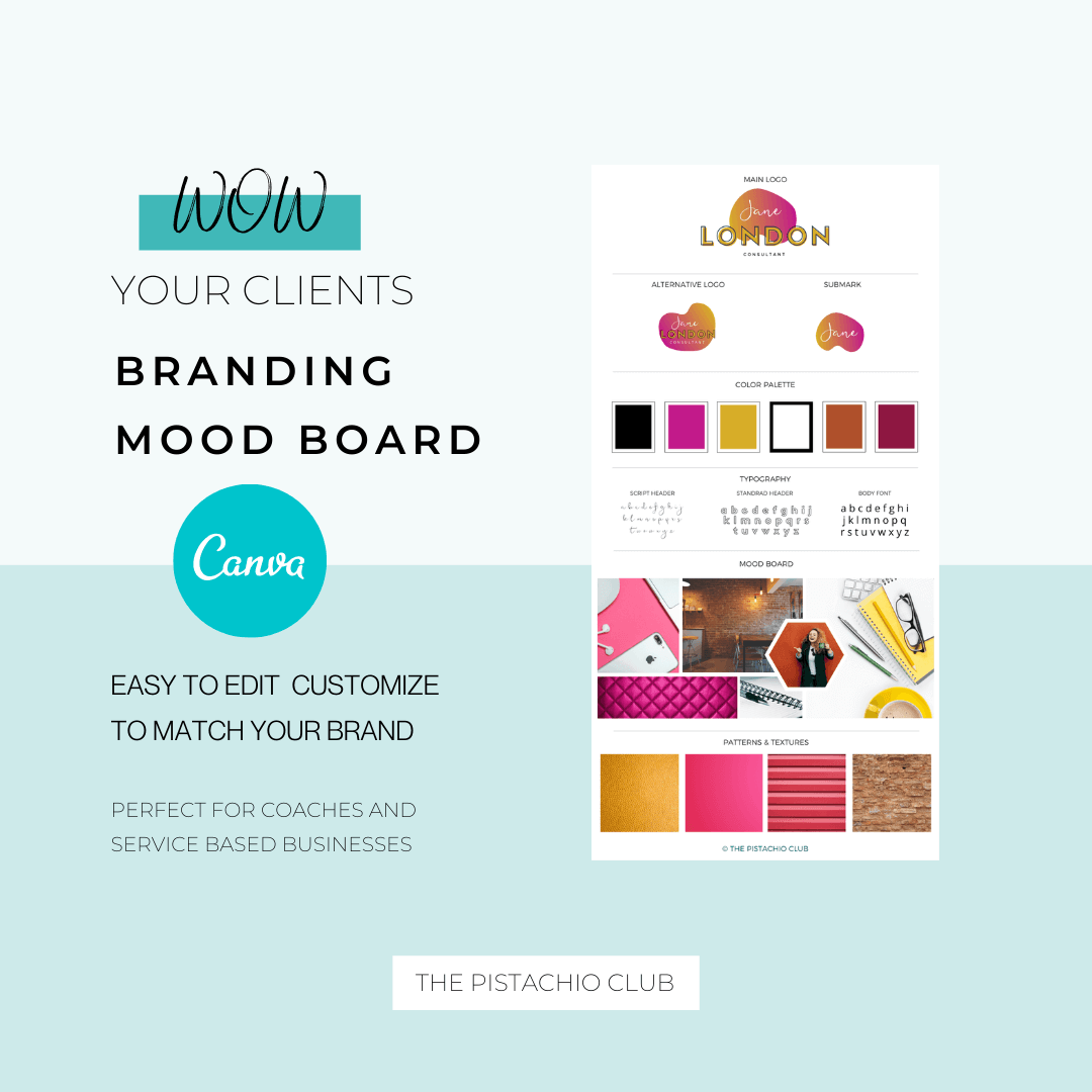 Jane London Brand Board Pre designed Branding TPC 1