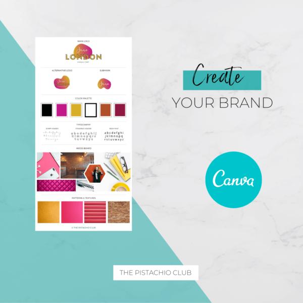 Jane London Brand Board Pre designed Branding TPC 3