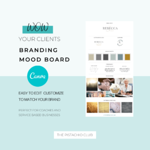 Rebecca White Brand Board Pre designed Branding TPC 1
