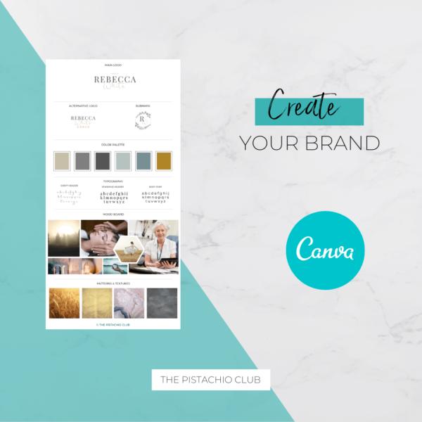 Rebecca White Brand Board Pre designed Branding TPC 3