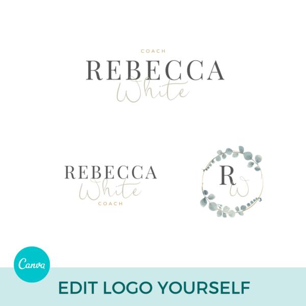 Rebecca White Logo Set Pre designed Branding TPC 4