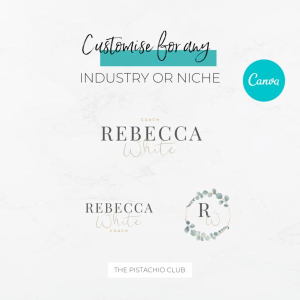 Rebecca White Logo Set Pre designed Branding TPC 5
