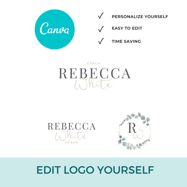 Rebecca White Logo Set Pre designed Branding TPC 6