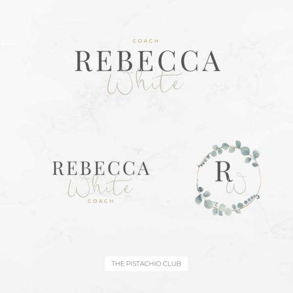 Rebecca White Logo Set Pre designed Branding TPC 7