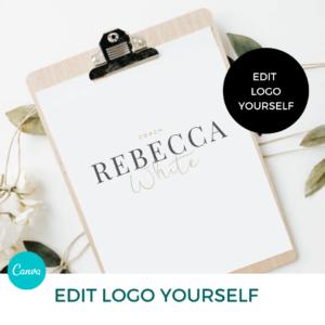 Rebecca White Main Logo Pre designed Branding TPC 1