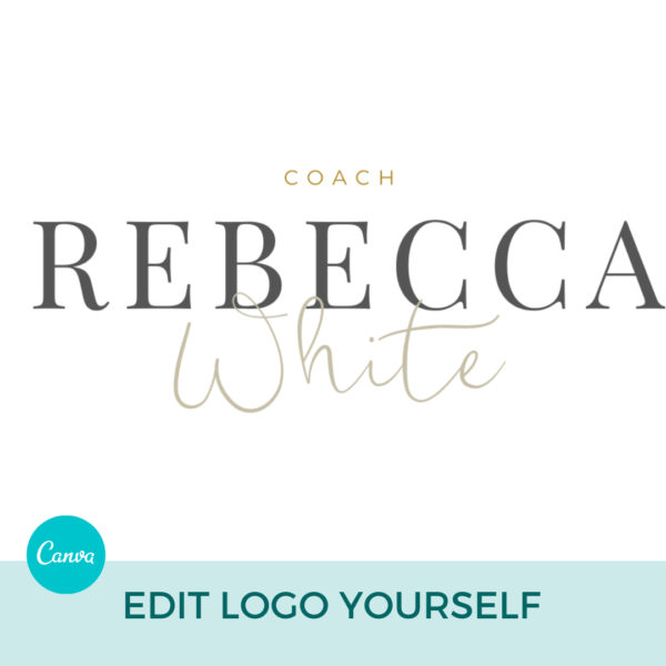 Rebecca White Main Logo Pre designed Branding TPC 2