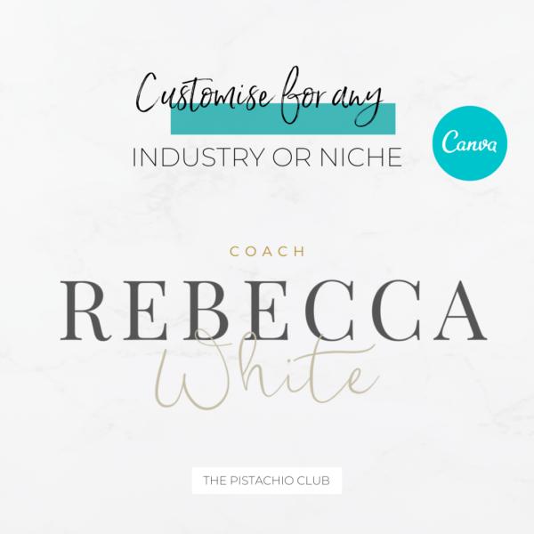 Rebecca White Main Logo Pre designed Branding TPC 3