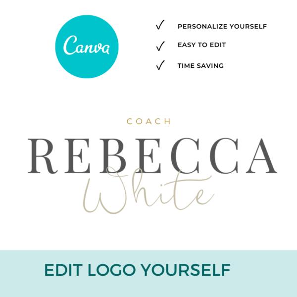 Rebecca White Main Logo Pre designed Branding TPC 4